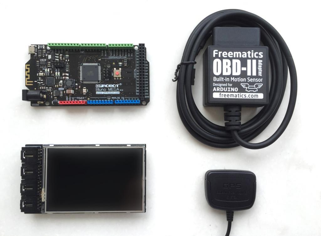 Parts of Advanced Telematics Kit