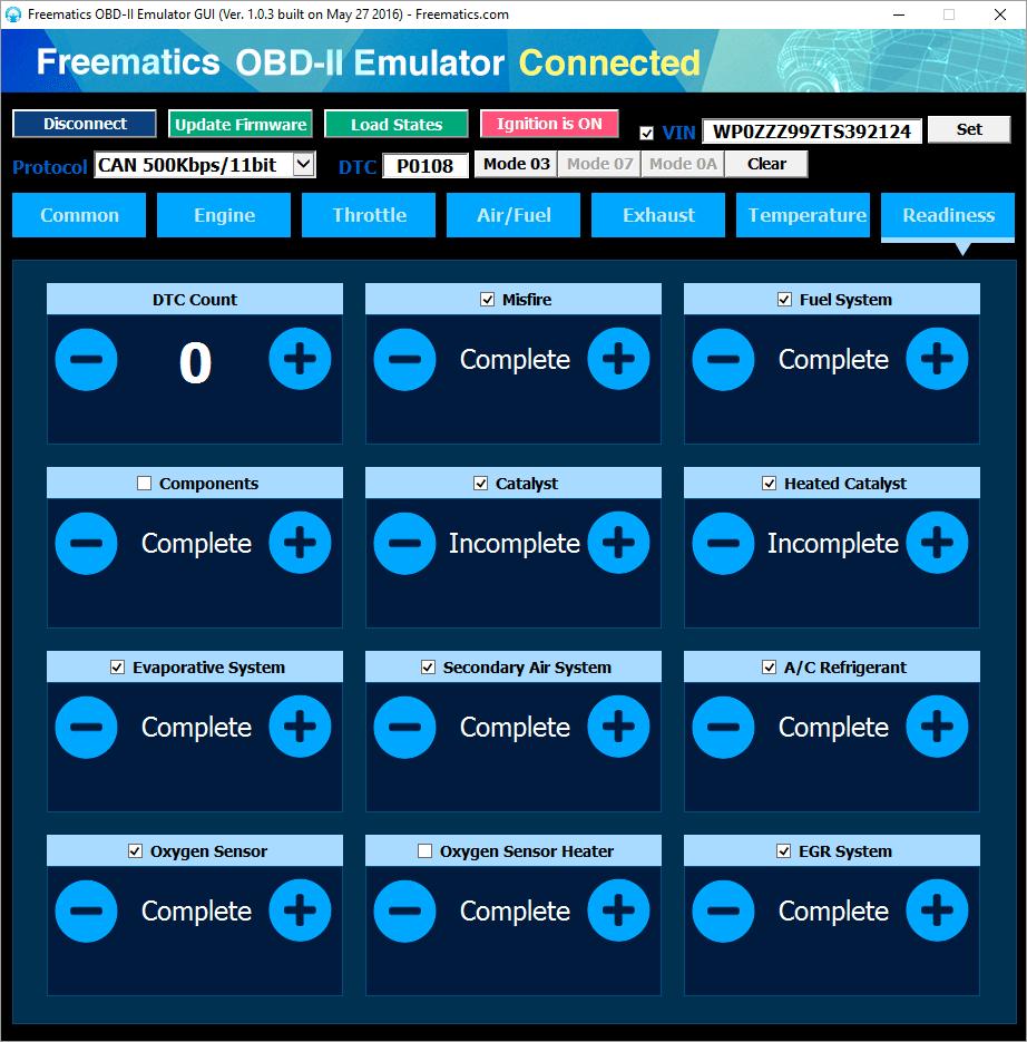 Freematics Obd Ii Emulator Mk2 Free Circuit Simulatorcircuit Design And Simulation Software List Gui Pids Readiness Monitor