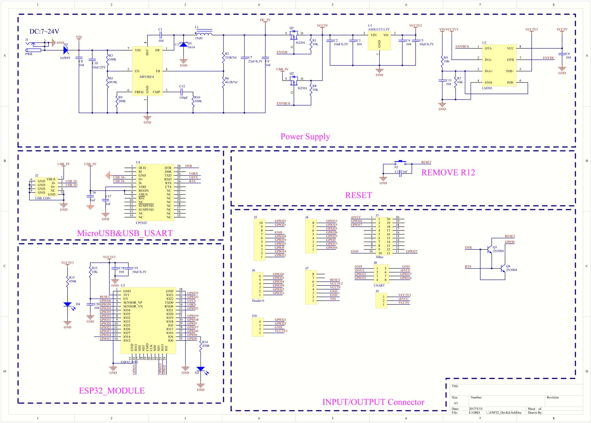 Freematics Esprit - Arduino Dev Board with Cellular/WiFi/Bluetooth