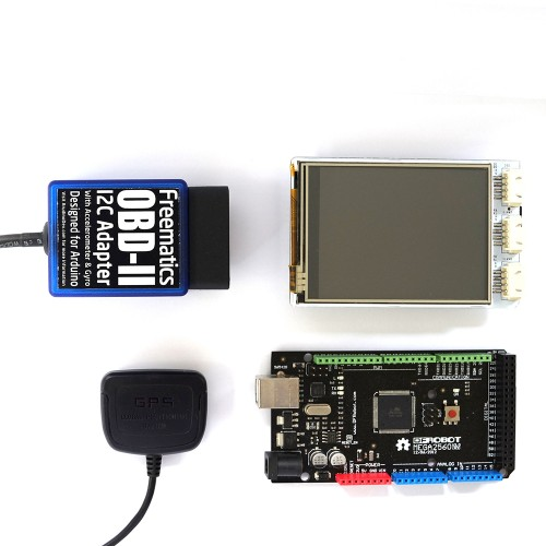 Obd ii telematics advanced kit arduino mega